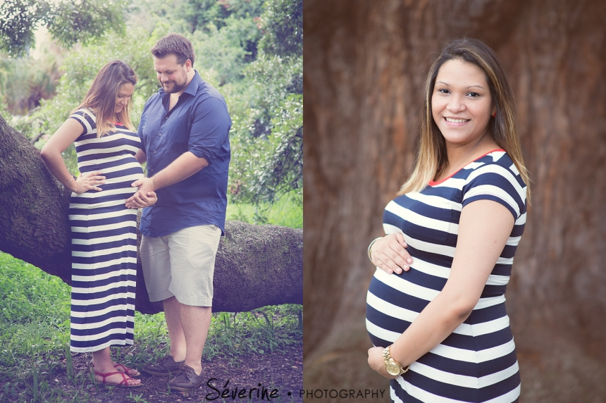 Maternity pictures at Treaty Oak Park Jacksonville
