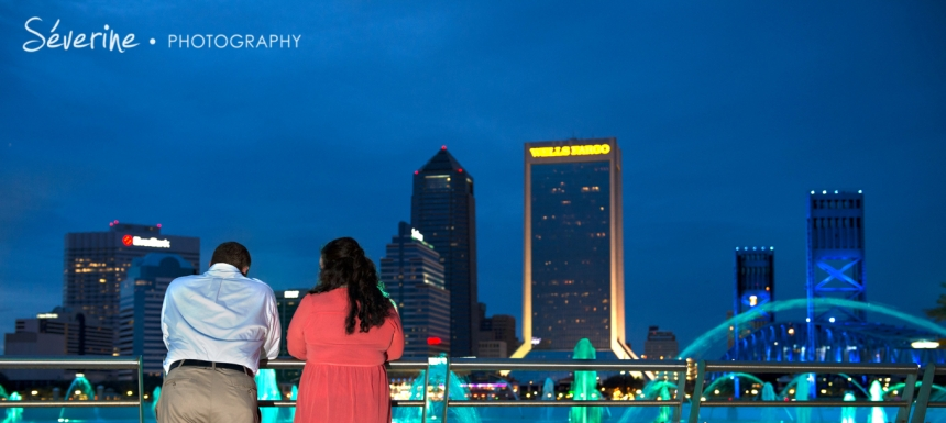 Downtown Jacksonville Engagement Photography