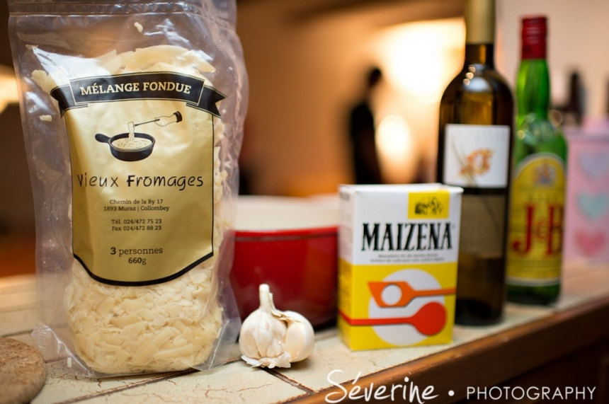 fromage, maizena, ail