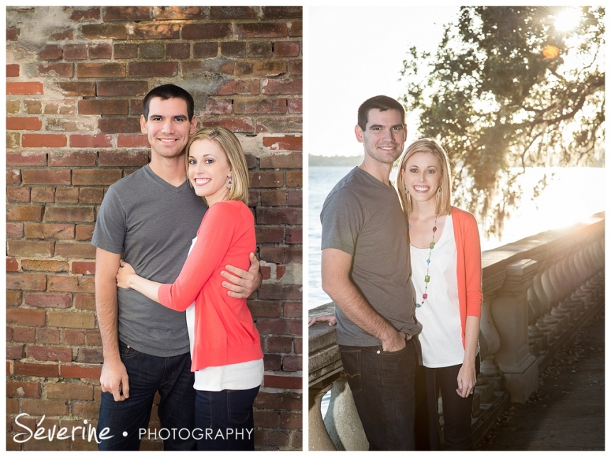 Fun engagement photos by the Oak Tree Park in Jacksonville