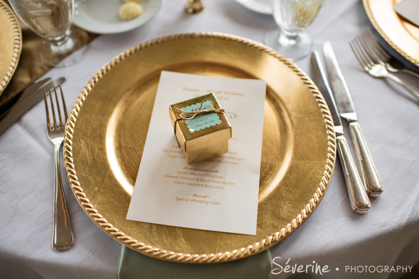 Gold and teal theme for wedding